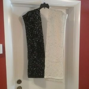 Accessories - NWT 2 Speckled Woven Infinity Scarves Final Price